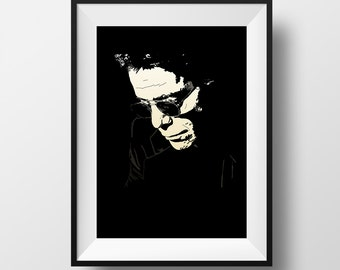 Lou Poster - Lou Reed - Graphic Illustration A4 - Art Print