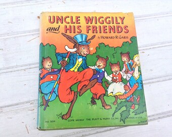Uncle Wiggily and His Friends Vintage Hardcover Children's Book Collectible 1955
