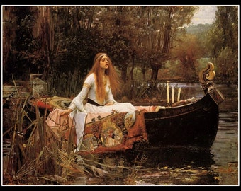 Art Print Lady Of Shalott John William Waterhouse 1888 Print 8 x 10