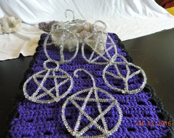 Pentacle and Tree of Life Tree Ornaments for Yule/Christmas