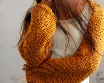 Crop Top Sweater Knitting Pattern - instruction on how to knit - THRIVE