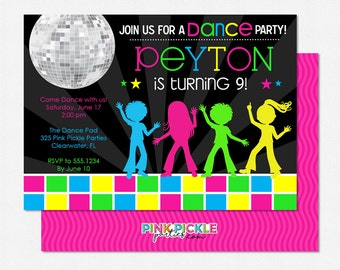 items similar to disco club invite or sweet 16 birthday party invitation disco ball invitation. Black Bedroom Furniture Sets. Home Design Ideas