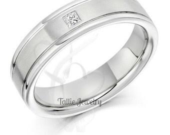 Mens Platinum Wedding BandsWedding RingsDiamond BandsMatching Rings