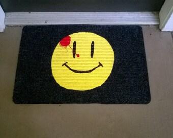 Watchmen Comedian Badge Welcome Mat
