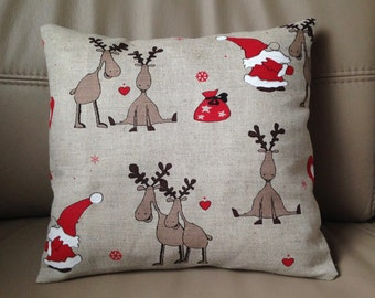 Christmas Pillow Santa Pillow Reindeer Pillow Santa Reindeer Pillow Holiday Pillow Christmas Décor Christmas Gift Xmas pillow covers