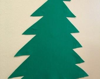 Felt Christmas Tree Plain no Accessories