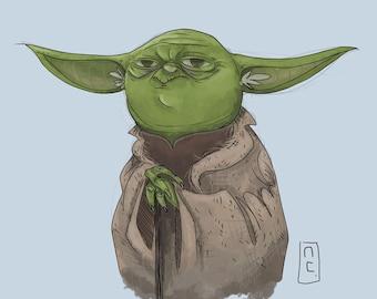 Yoda 8x8 Star Wars Art Print
