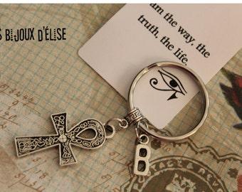 Personalized Egyptian Cross Keychain Ankh Bag dangle Purse Jewelry