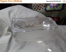 On Sale Federal/Atlas  Clear Glass Rectangular Vegetable Leftover Container