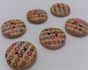 12 Color paints  Wood Buttons Designs