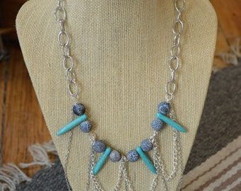 Gwyneth Turquoise Statement Necklace