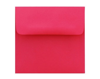25 5.5 x 5.5 Re-Entry Red Envelope - 5 1/2 x 5 1/2 for 5x5 invitation and announcement