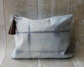 Organic Shibori Zip Pouch***SALE***