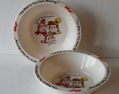 Vintage 1995 Snap Crackle & Pop Kellogg's Rice Krispies Two Collectible Plastic Bowls