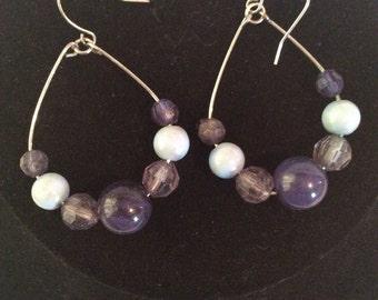Beaded drop earrings 2 in