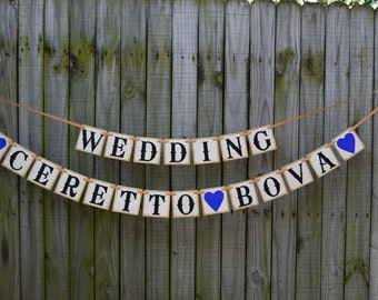 Wedding Banner  -Bridal Shower Decoration Banners - Engagement Party Decoration - CUSTOMIZE YOUR NAME