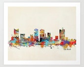 fort worth texas .modern pop art skylines.Gallery fine art prints .city skylines for home decor.color your world