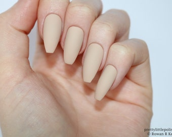 Acrylic nails etsy matte nude coffin nails nail designs nail art nails stiletto nails prinsesfo Images