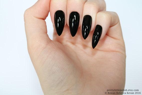 black stiletto nails halloween nails fake nail stiletto nail kylie jenner black stiletto nail press on nail acrylic nail from on