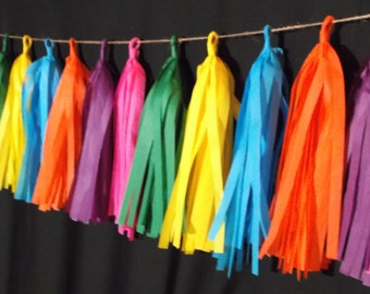 shipped next day 20 tassel cinco de mayo tissue paper garland fiesta party decorations - Fiesta Decorations