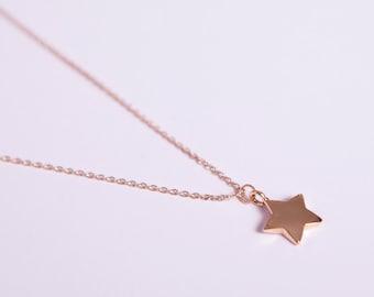 Fine Rose Golden Necklace Rose Gold Star Starlet Goldstar  Star Necklace