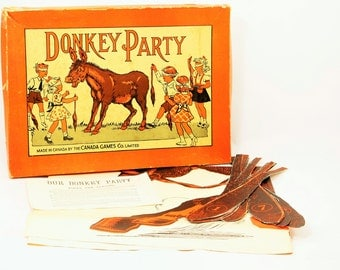 Donkey Party Game, Pin the Tail on the Donkey Game