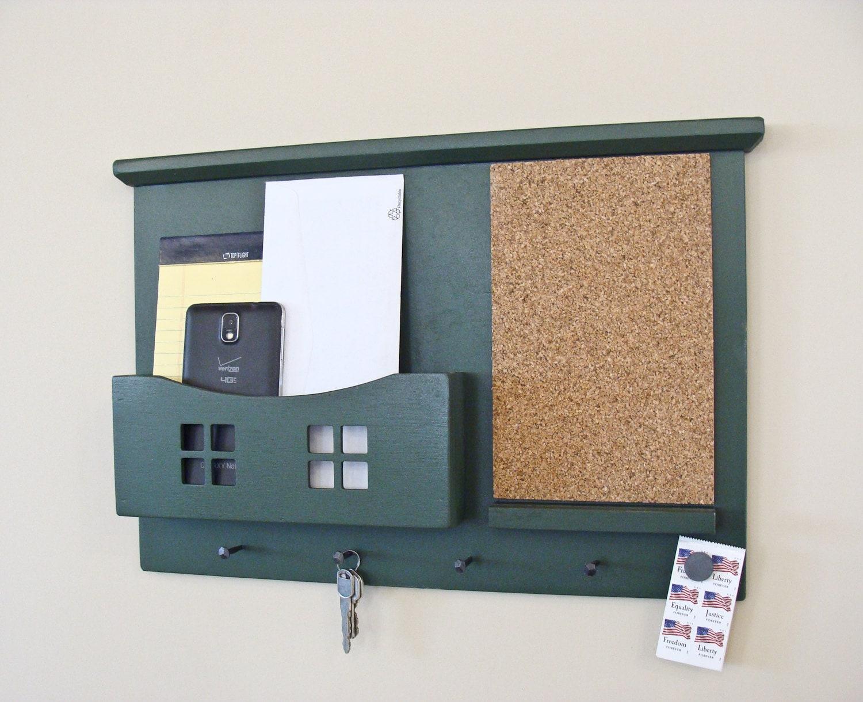 Mail and key organizer wall organizer mail holder key - Wall mounted mail organizer and key rack ...