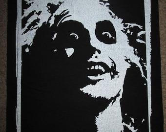 Beetlejuice Back Patch - Print, Screen Print, Punk, Patch, Stencil, Art, Horror, Tim Burton.
