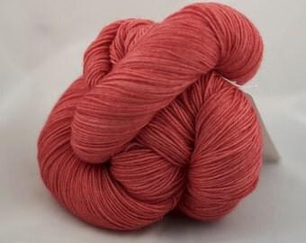 CatNap - SAUMON - Mérinos superwash fingering nylon sock