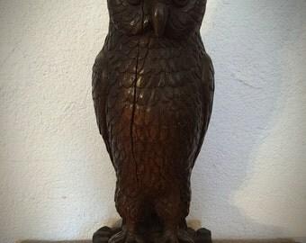 Vintage Austin Productions Bronze Ceramic Owl Statue