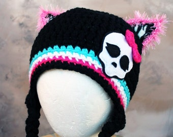 Monster High MH inspired thick winter ready to be shiped crochet hat