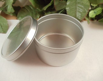 8 oz Deep Metal Tin Container with Lid
