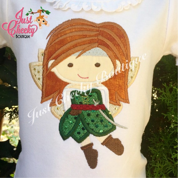 Disney Fairy Zarina Cutie Inspired Embroidered Shirt - Pirate Fairy - Disney Fairies Girls Shirt - Disney Fairy Birthday Shirt