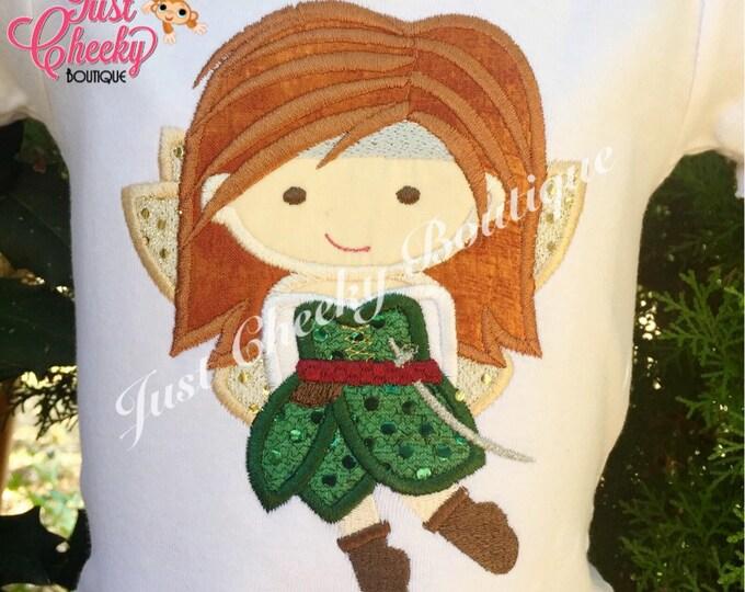 Disney Fairy Zarina Cutie Inspired Embroidered Shirt - Pirate Fairy - Disney Fairies Girls Shirt - Disney Fairy Birthday Shirt