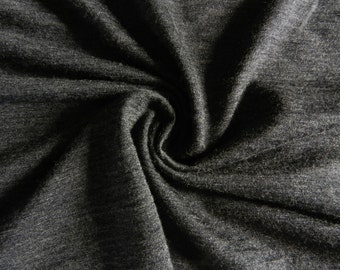 100% merino wool fabric fromNew Zealand  Jersey Knit by the yard metre Cream White  Black Charcoal Gray Grey Stripes Blue