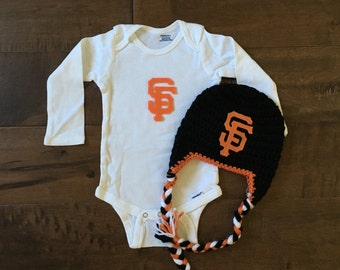 San Francisco giants outfit, SF giants onsie, Sf giants baby