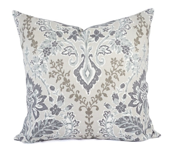 Purple And Gray Decorative Pillows : Two Decorative Pillow Covers Purple Pillow Cover Grey