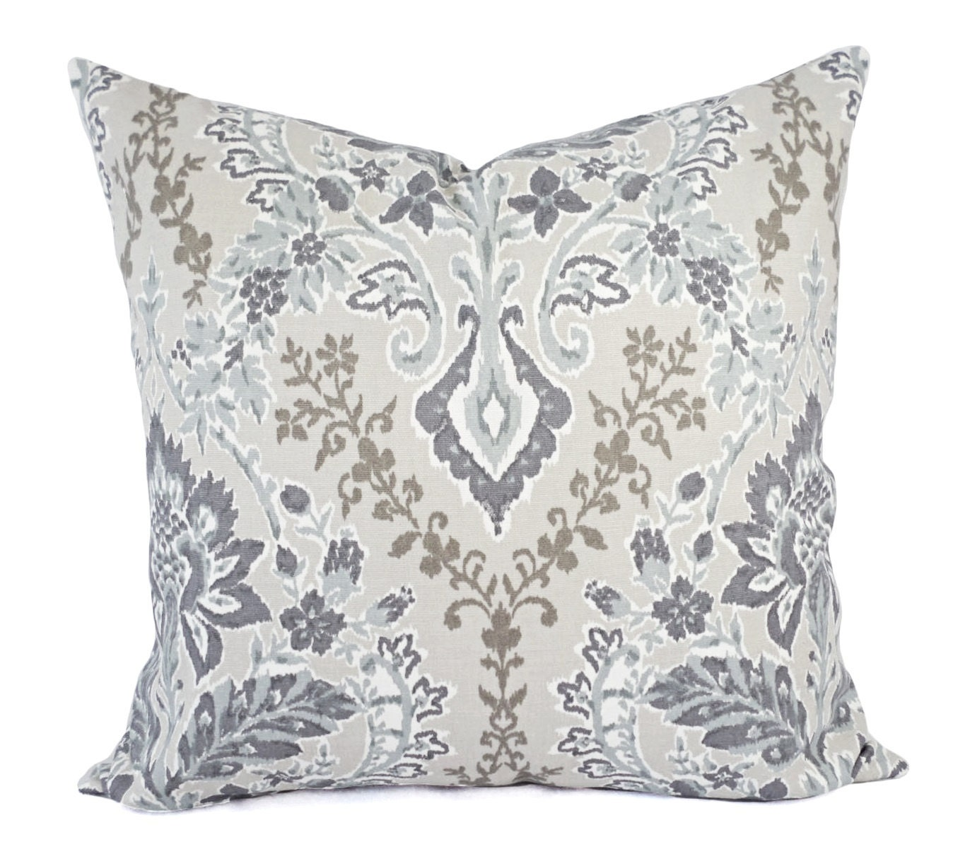 Purple And White Decorative Pillows : Two Decorative Pillow Covers Purple Pillow Cover Grey