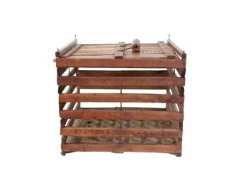 Antique Wooden Chicken Egg Crate
