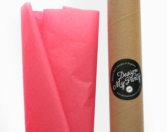 Coral Rose Tissue Paper (20 or 40 Sheets) 500mmx760mm