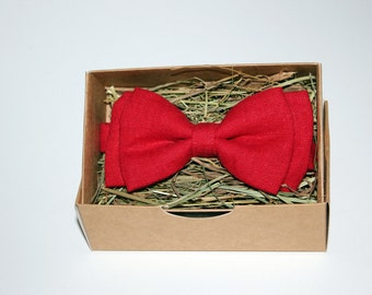 Handmade red bow tie