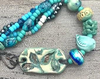 Breezy Blue Birdy Summer Bracelet