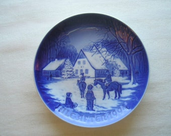 Danish Collectible Plate|Bing and Grondahl|B & G Plate|1994 Christmas Plate|A Day at the Deer Park|Collectible Plate|Made in Denmark