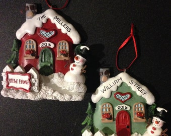 New Home or Our First Home Personalized Christmas Ornament