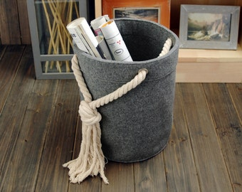 Felt Storage Box Container Bag Storage Box Houstehold Storage Bin Storage Basket E1216-MGra01