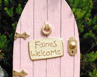 Pink Fairy Door Faries Welcome - In/Out Door- For Elfs Faries Pixies