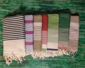 Tunisian Fouta Hammam  Beach Bath Towel Throw Blanket or Pareo