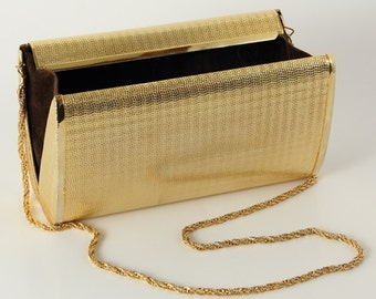 1950s Vintage golden clutch
