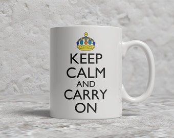 Austim KCCO Mug, Puzzle Pieces, Keep Calm And Carry On