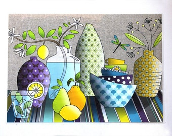 Laminated placemat 'lemon lime'